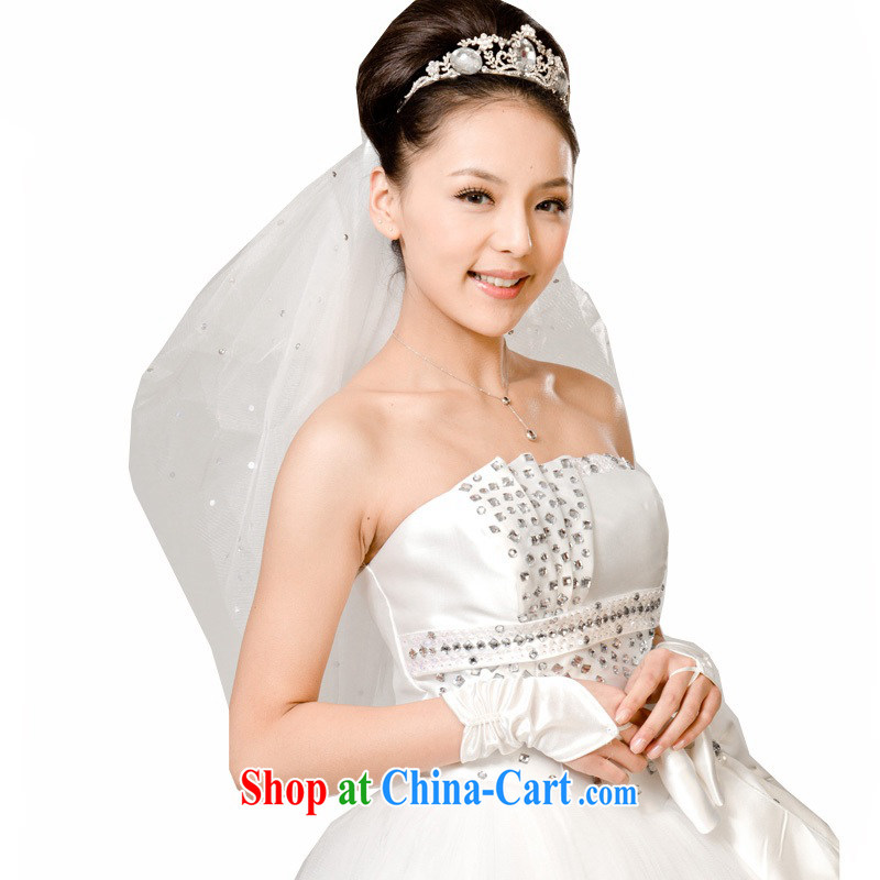 Moon 珪 guijin marriages wedding accessories and yarn gloves stays a package 4