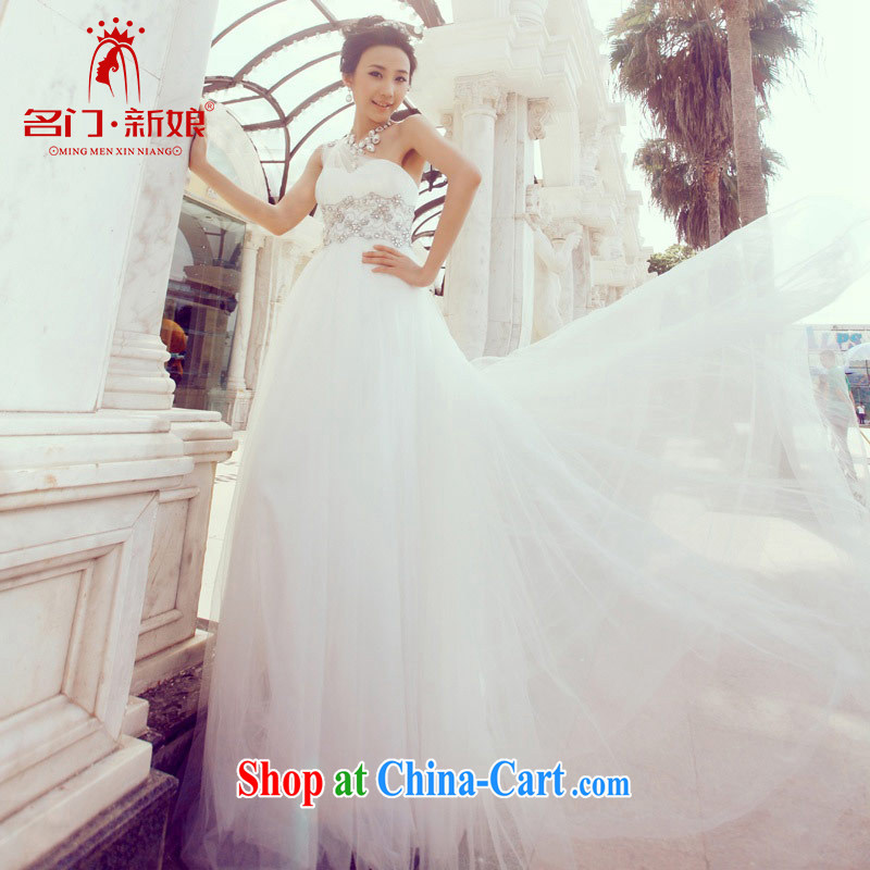 The bride's Simple single-piece wedding noble-Korean small-tail wedding 851 L