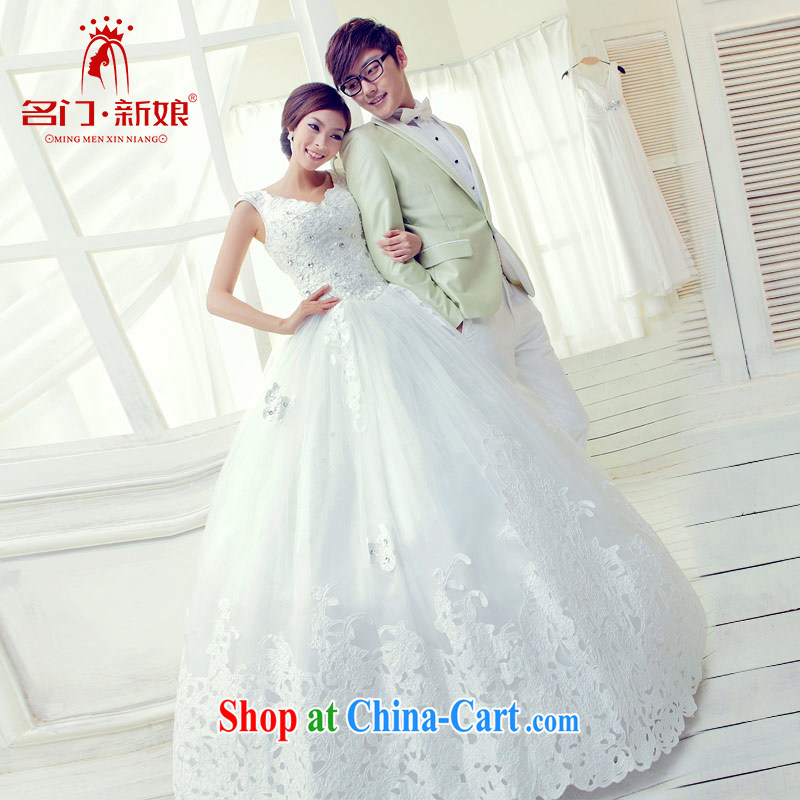 The bride Korean wiped chest Princess wedding sweet elegant new wedding 812 M