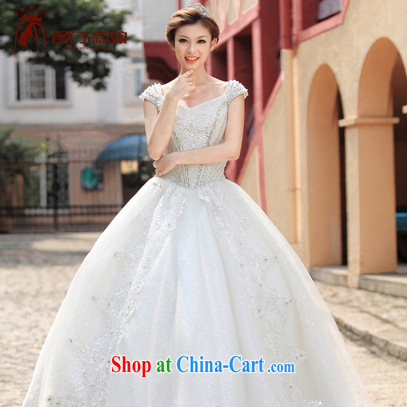 The bride's wedding dresses shoulders wedding shaggy with Princess wedding new 893 L