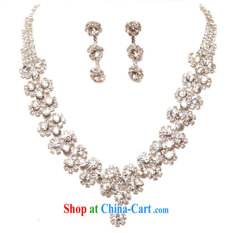 The bridal suite link wedding jewelry new Korean-style necklace wedding accessories bridal necklace 053 silver