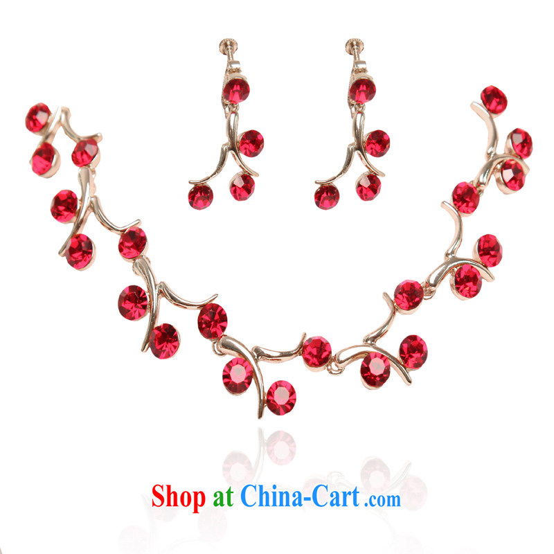 The bride's wedding accessories bridal suite link bridal jewelry set marriage link 203 red