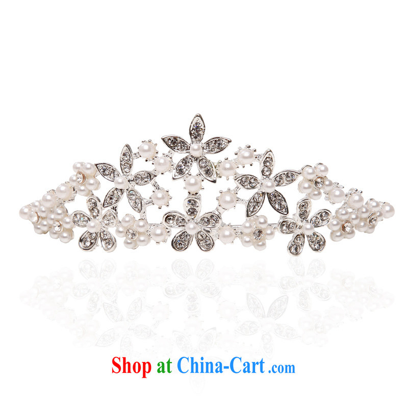 The bride bridal accessories wedding and bridal Crown wedding accessories 091 silver