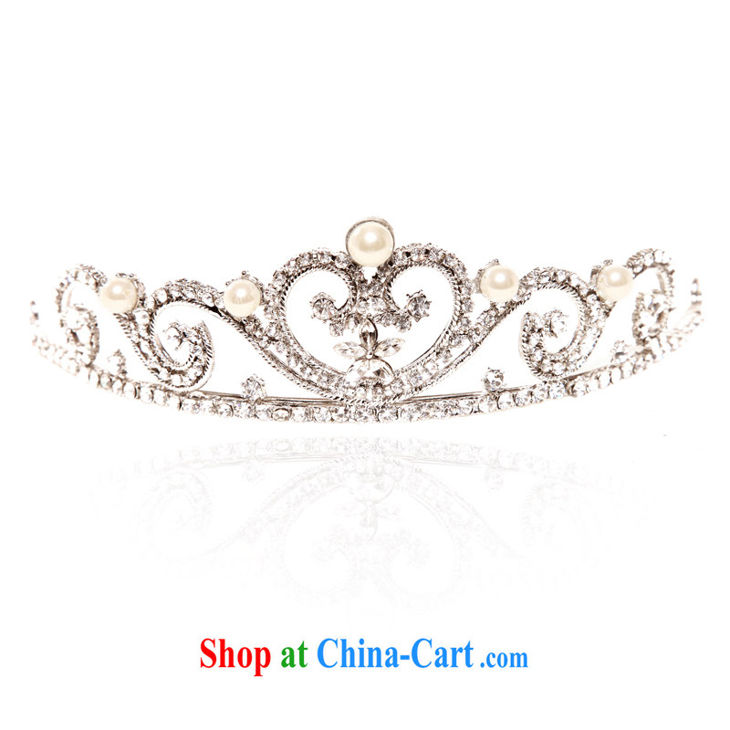 The bride bridal headdress bridal accessories bridal jewelry and wedding jewelry wedding Crown 086 silver