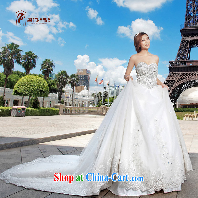 The bride's wedding dresses Korean Princess sweet wedding new large tail wedding 949 L