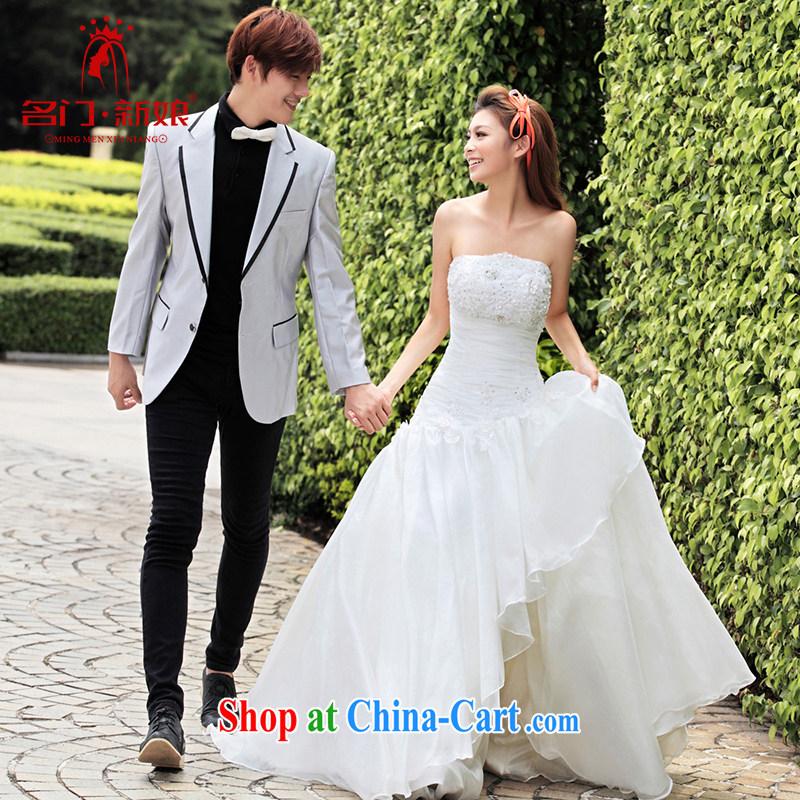 The bride's wedding dresses new Korean Princess wedding wiped his chest, wedding 943 L