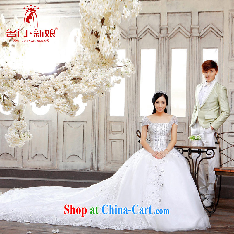 The bride's wedding Korean Princess wedding long-tail wedding sweet Deluxe Big-tail A M 930