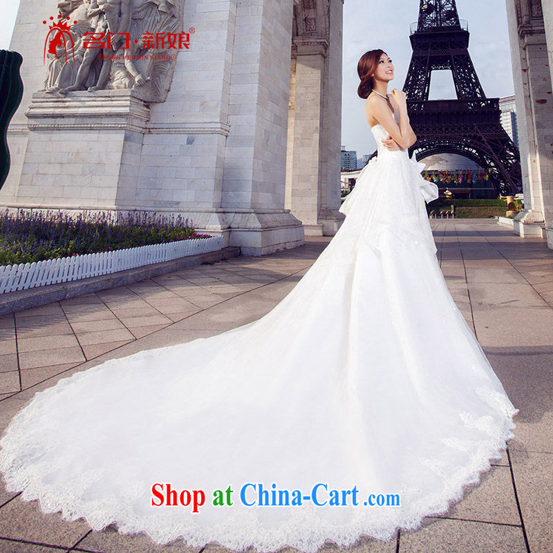 The bride's Deluxe Big-tail Princess wedding wiped chest wedding 2015, 861 standard, L
