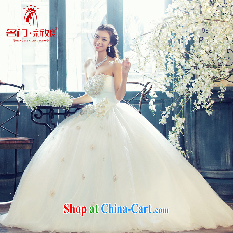 The bride's new Korean Palace minimalist luxury shaggy erase chest Princess wedding 810 the lint-free cloth, L