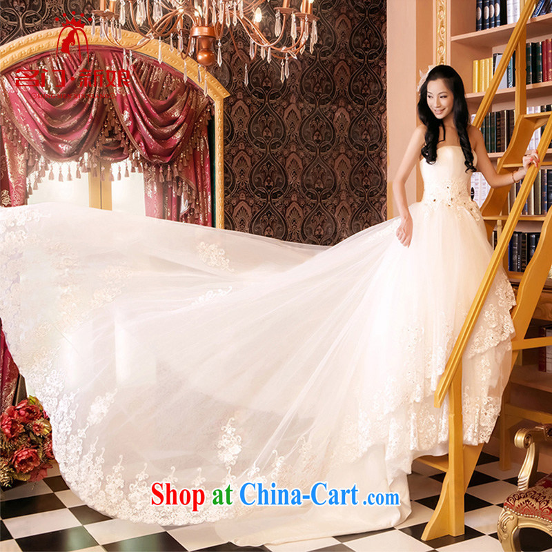 The bride's new Korean version shaggy Princess wedding Korean wiped chest wedding 818 tail the lint-free cloth, L