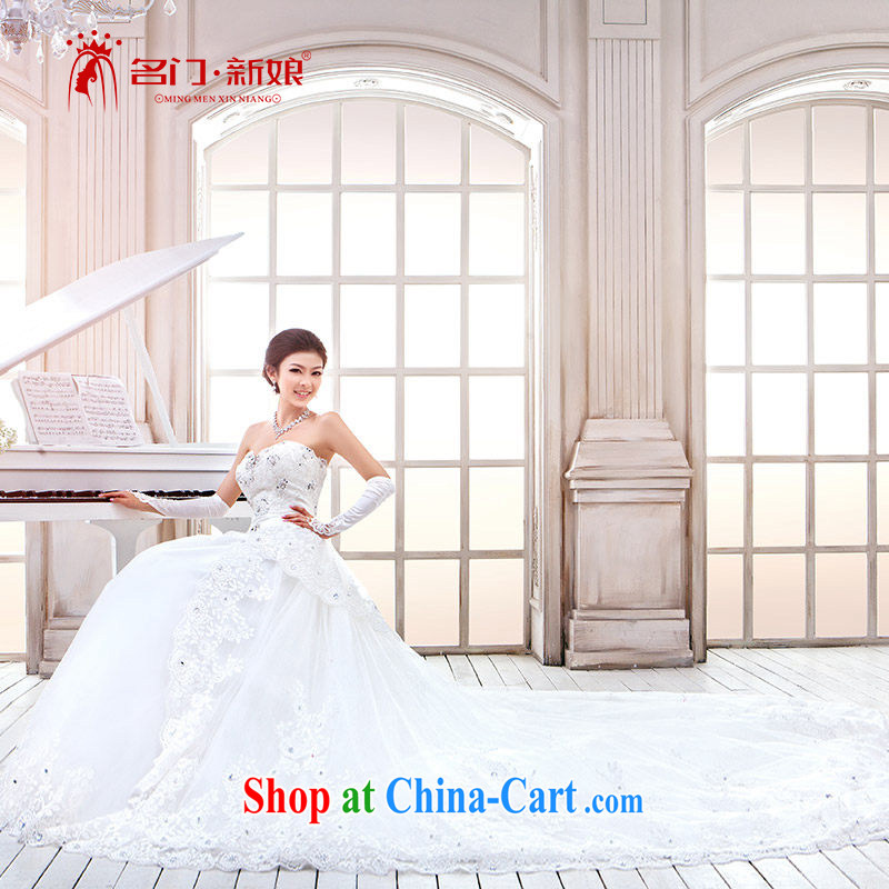 The bride's new Korean version wiped chest Princess Korean tail wedding 811 tail standard, L