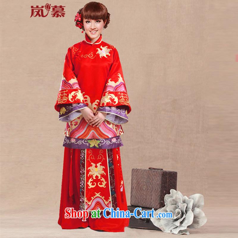 LAURELMARY sponsors the bridal show reel service retro dress Soo kimono toast serving large red XL
