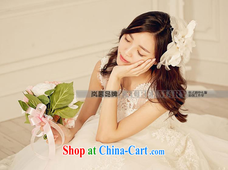 Its blossoms of spring 2015 new Korean field shoulder lace large tail bridal wedding dresses ivory white XL pictures, price, brand platters! Elections are good character, the national distribution, so why buy now enjoy more preferential! Health