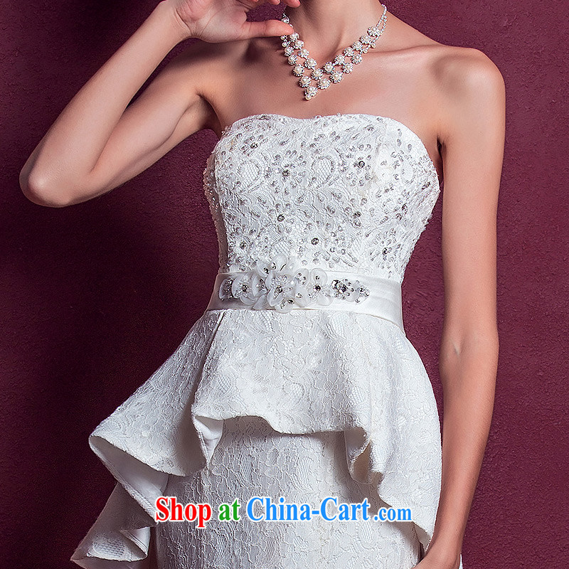 The bride's wedding dresses elegant small tail wedding wiped chest lace wedding new 972 L, a bride, and shopping on the Internet