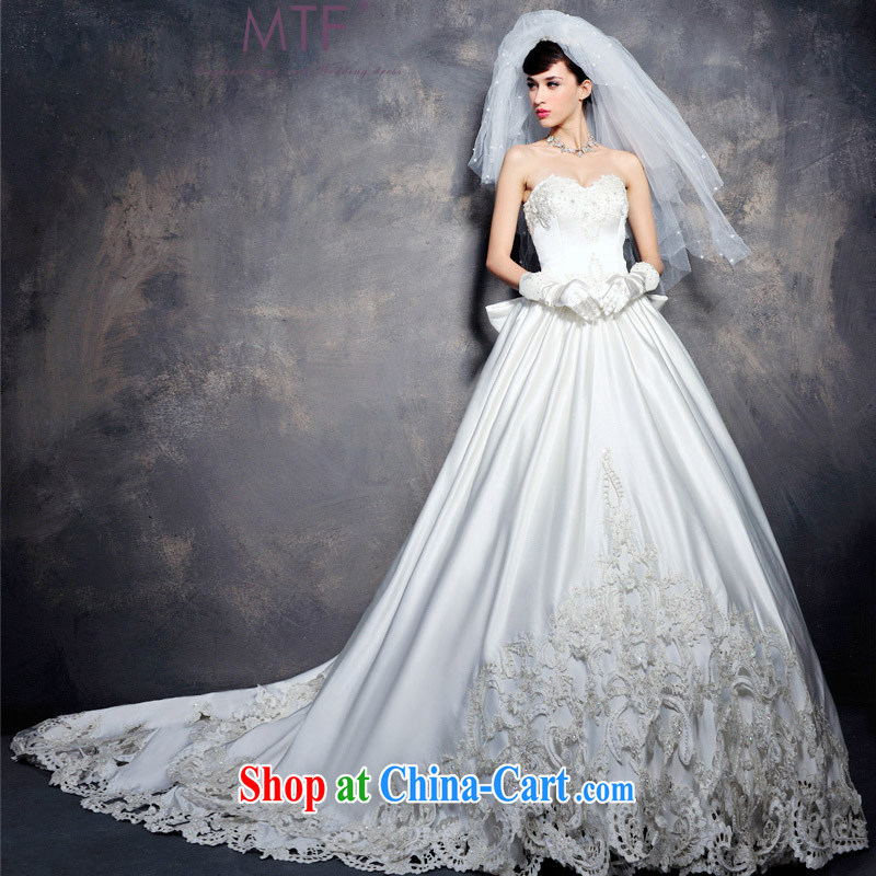 Full court in Europe, antique wood drill custom wedding dresses bare chest Royal hotel-tail 2015 new S 1282 tail 100 CM tailored