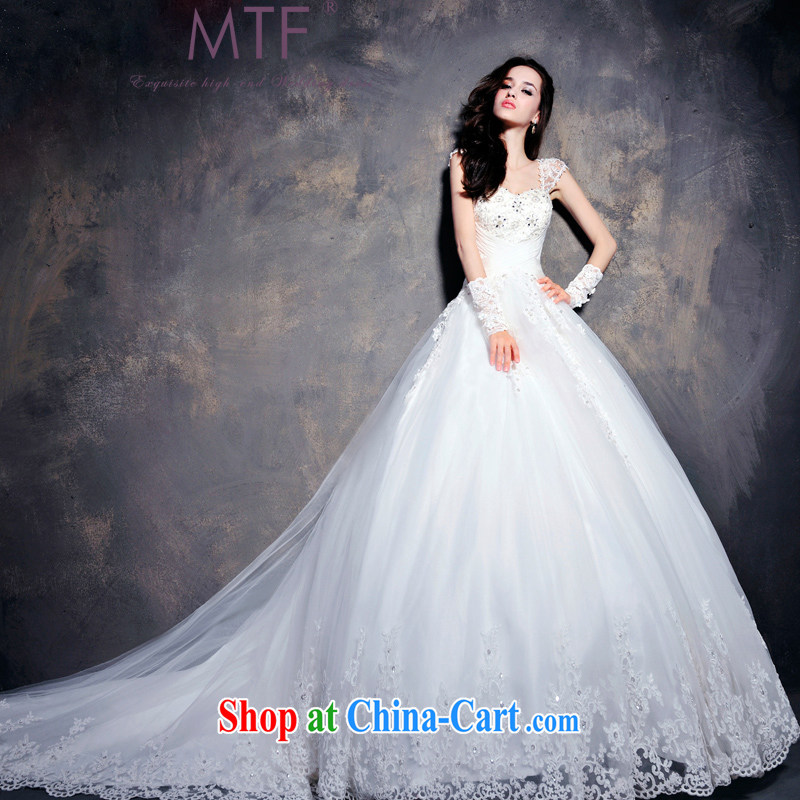 Garden professional high quality wedding dresses custom tail tied with a shoulder wedding dress, Japan, and South Korea wedding dresses 2015 spring and summer new S 619 tail 60 CM tailored