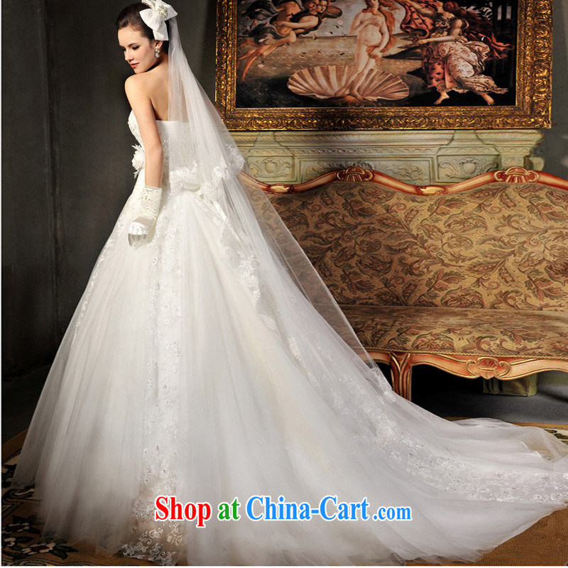 Full court, 2015 new hot deluxe wipe Chest straps, tail wedding dresses S 612 tail 50CM tailor, garden, shopping on the Internet