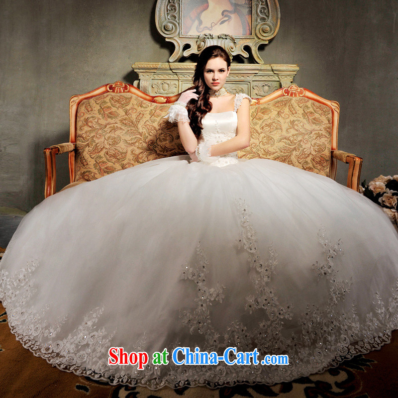 9099 MTFS lace crystal package shoulder bare chest two-Korean noble Deluxe Big-tail wedding with, tailor-made