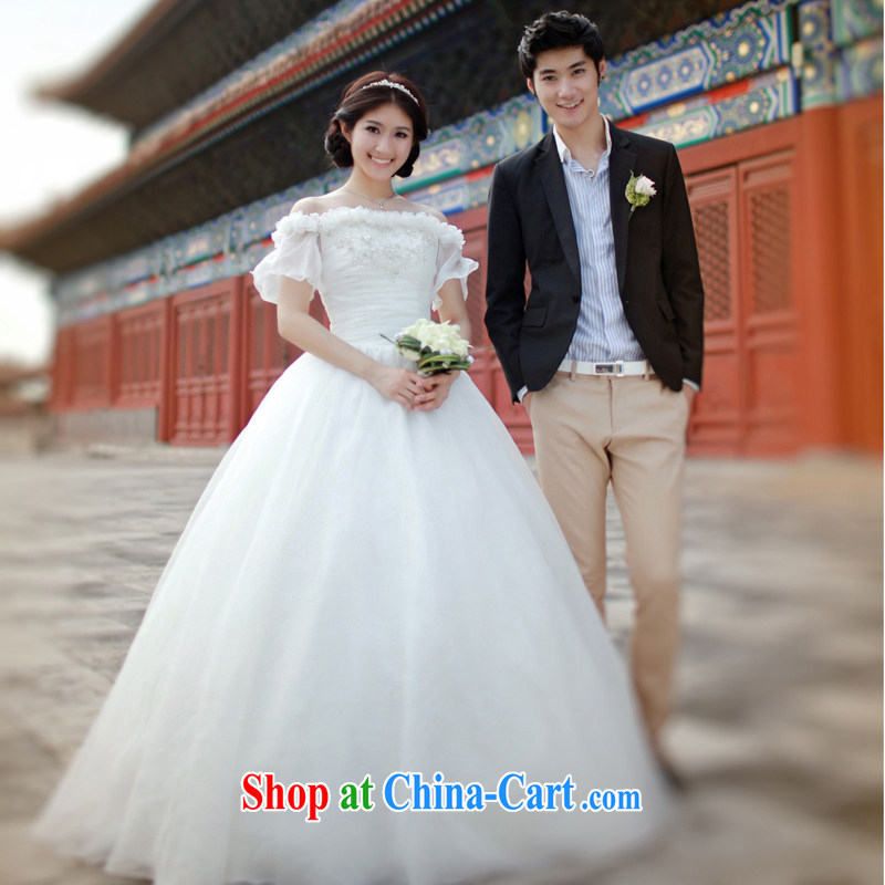 2015 New Field shoulder Korean wedding dresses with stars, with sweet Princess wedding S 620 alignment, and tailored