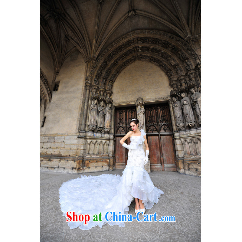 Garden Paris Station Palace the shoulder only the stack yarn tail wedding style, 2015 new S 1231 tail 150 CM tailored