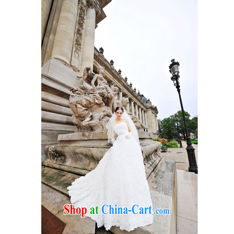 2015 Paris Station new wedding dresses Korean Palace elegant Princess Mary Magdalene antique chest wedding dresses 1269 S-tail 100 CM tailored
