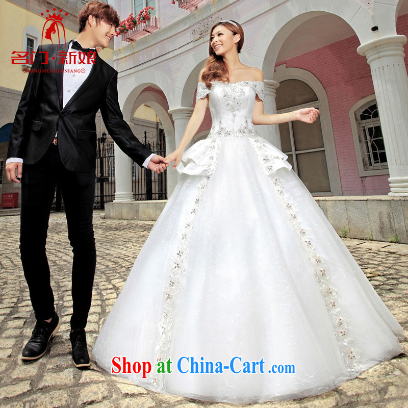 The bride's wedding dresses Princess wedding, a shoulder with wedding 952 L
