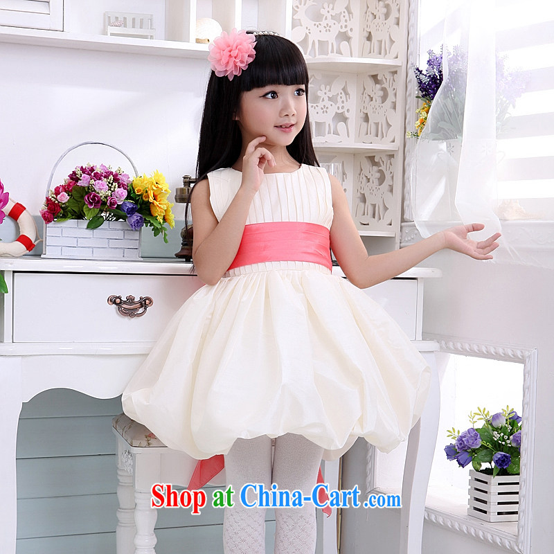 Moon 珪 guijin dresses children show children serving dance service shaggy Paridelles skirt with T06m White watermelon Red Belt 10 is scheduled 3 Days from Suzhou shipping