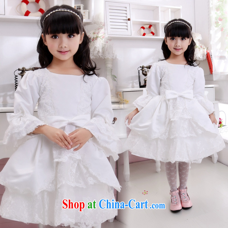 Moon 珪 guijin Angel Darling children dress lace lace children show their dance uniforms T 11 m White 10, scheduled 3 Days from Suzhou shipping