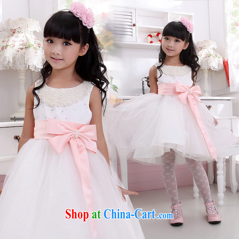 Moon 珪 guijin sweet flash beads dress children show children serving dance clothes T 15 pink ribbons 10, scheduled 3 days from Suzhou shipping