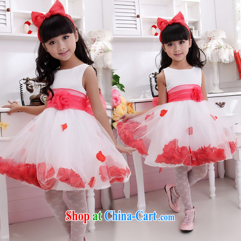 Moon 珪 guijin girl children dresses sleeveless dress dress flower girl wedding dress Princess flower girl dress children show their dance clothes T1 10, scheduled 3 Days from Suzhou shipping