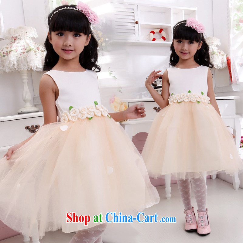 Moon 珪 guijin children's rompers dresses flower petal dress, dress children show service dance clothes T 19 10, scheduled 3 Days from Suzhou shipping