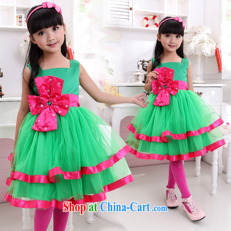 Moon 珪 guijin children's rompers dress flower dress, skirt wedding dress Princess show children serving dance clothing T 21 10, scheduled 3 days from Suzhou shipping