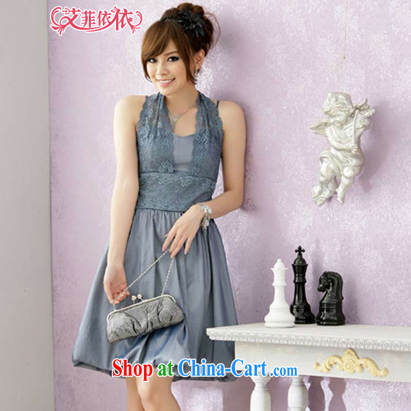 The Parting short lantern small dress 2015 Korean version of the new, female Korean banquet hosted annual stage evening sister dresses 3595 gray?XXXL