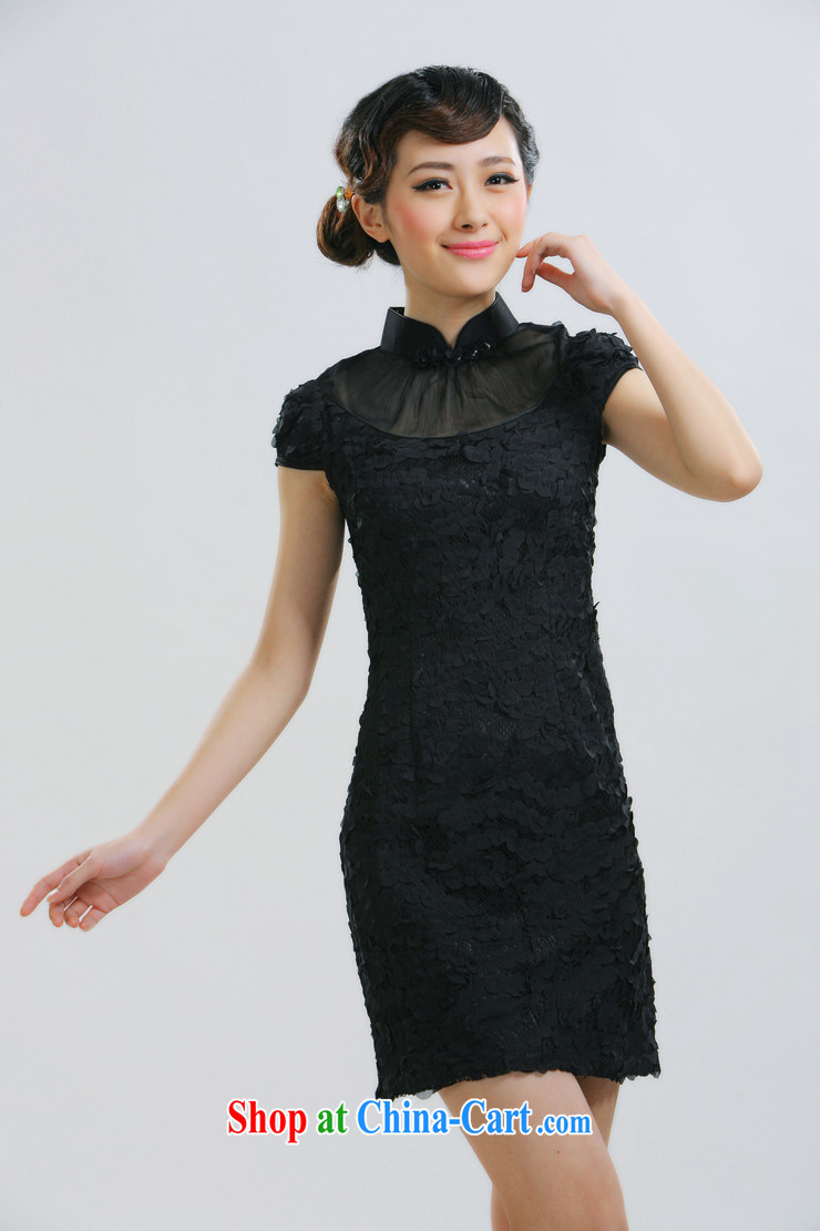 Slim li know 2015 new sweet romantic graphics thin retro dress dresses retro Palace wind of aristocratic ladies China wind cheongsam QLZ Q 15 6010 pink M pictures, price, brand platters! Elections are good character, the national distribution, so why buy now enjoy more preferential! Health