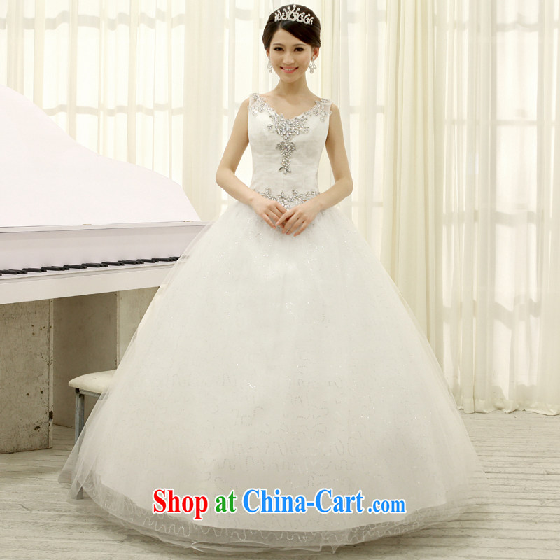 Mrs Alexa Lam go scot bridal wedding dresses 2013 the latest Korean Princess shoulders V collar Deluxe drill marriage wedding white strap with 28,182,聽white L