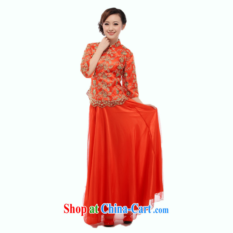 Slim li know bridal suite stylish outfit able to retro Chinese qipao wedding dress dress qipao Kit 2014 new QT 18 cuff does not Openwork XXXL