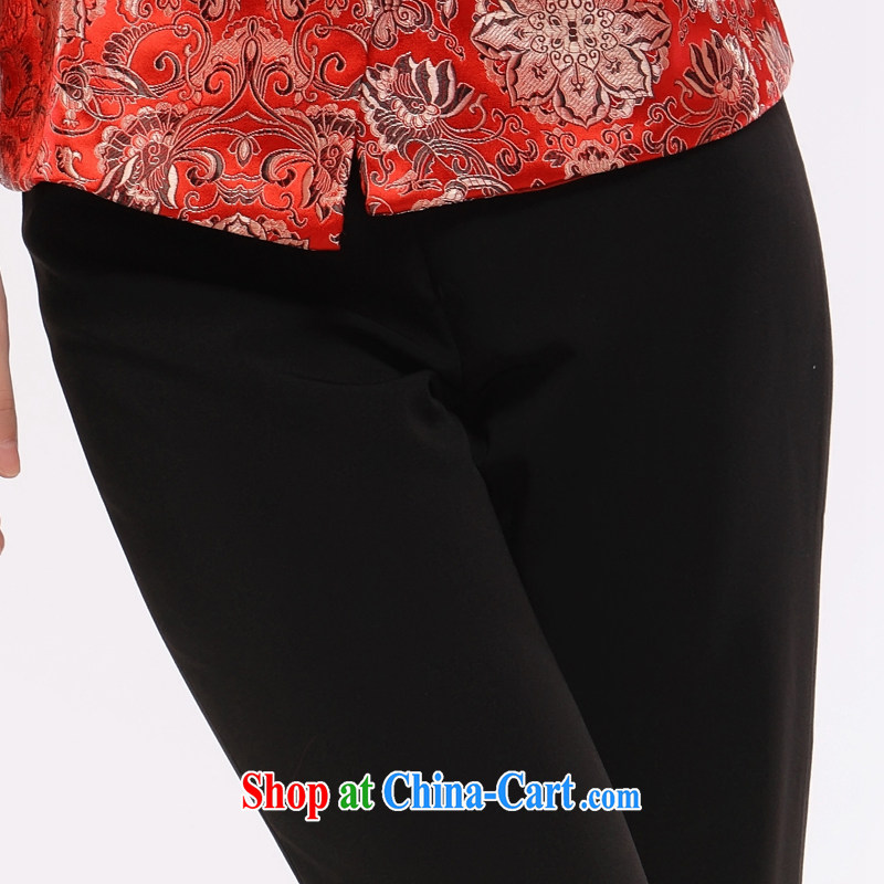 Slim li know 2015 spring new Ms. replace older dress auspicious lanterns embroidery micro-la Salle trousers XL a kernel for lanterns, Trouser Press black XL, slim Li (Q . LIZHI), online shopping