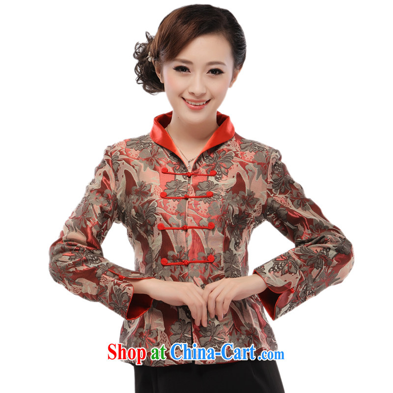 The slim li know as soon as possible 2014 New, Old clothing, Chinese mother T-shirt jacket QR 52 figure XXXXL