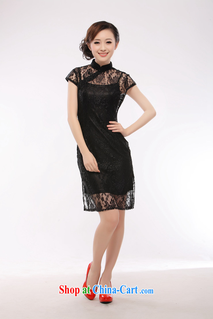 black lace dress straps skirt 2015 new sexy slim li know QT 10 black XXL pictures, price, brand platters! Elections are good character, the national distribution, so why buy now enjoy more preferential! Health