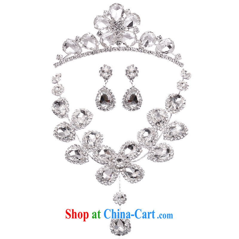 The bride's luxury furnishings bridal jewelry wedding accessories lights diamond luxury 3 Piece Set 095 crown; 164 Kit link