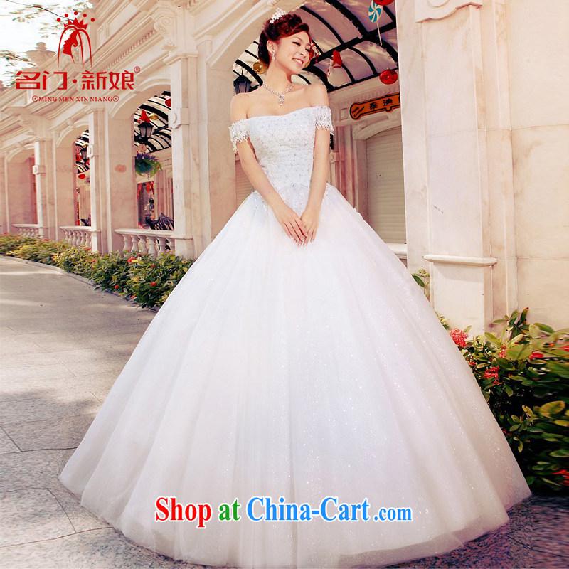 The bride's wedding dresses the Field shoulder wedding dresses 2015 new shaggy Princess with wedding A L 979