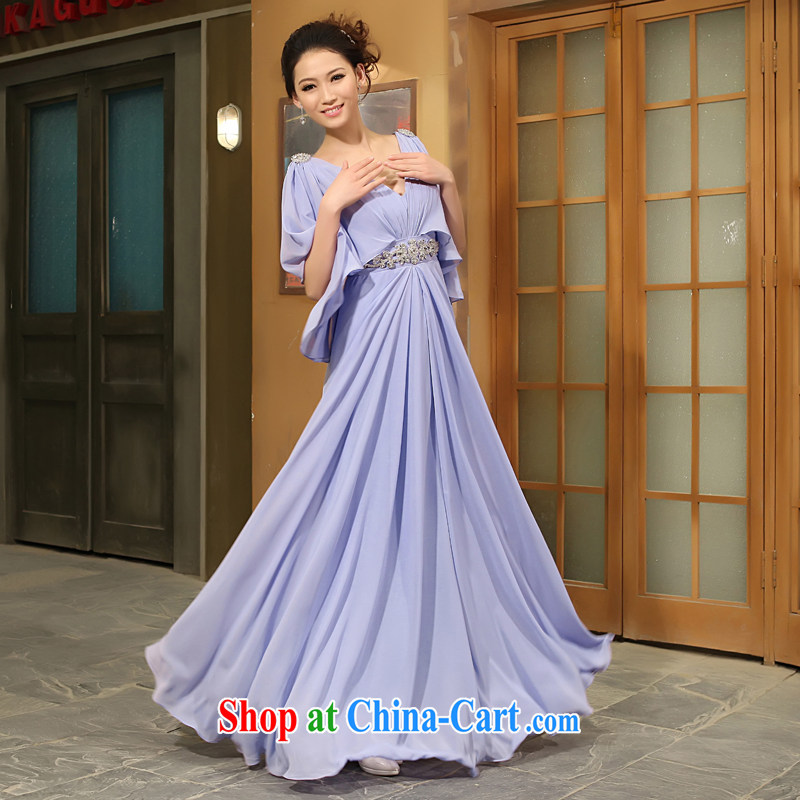 Mrs Alexa Lam go scot wedding dresses new 2013 Korean marriages served toast Red Snow woven Deep V collar night package shoulder serving the people serving 28,262 purple S