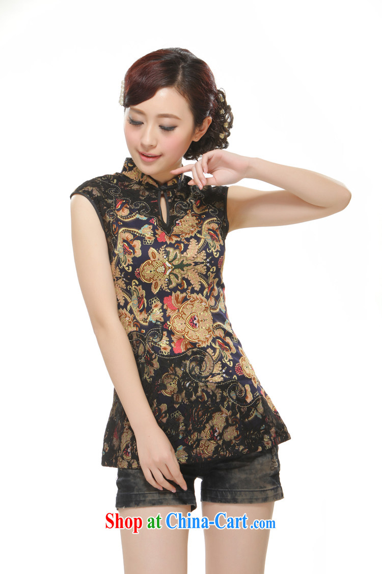 Slim li know 2015 spring and summer new, Chinese T-shirt Chinese Ethnic Wind retro improved stylish auspicious Feng totem QC 3 - 113 black XXL pictures, price, brand platters! Elections are good character, the national distribution, so why buy now enjoy more preferential! Health
