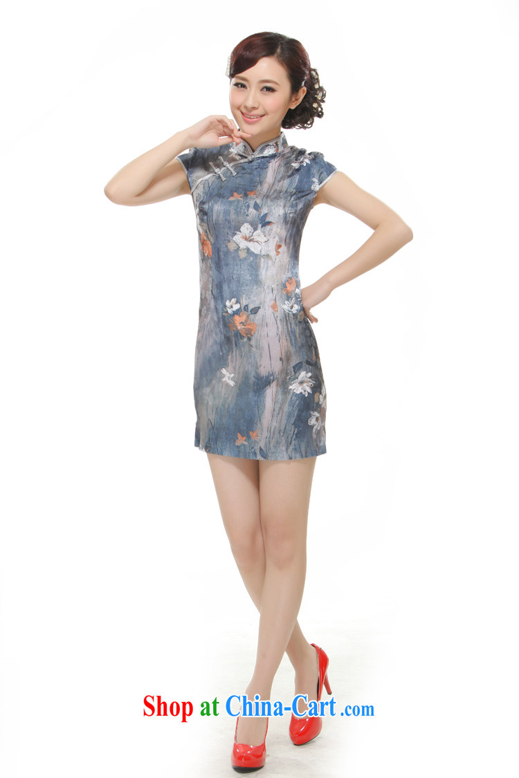 Slim li know 2015 new, streaking Lotus gray retro improved cultivating cheongsam QW 2524 gray XL pictures, price, brand platters! Elections are good character, the national distribution, so why buy now enjoy more preferential! Health