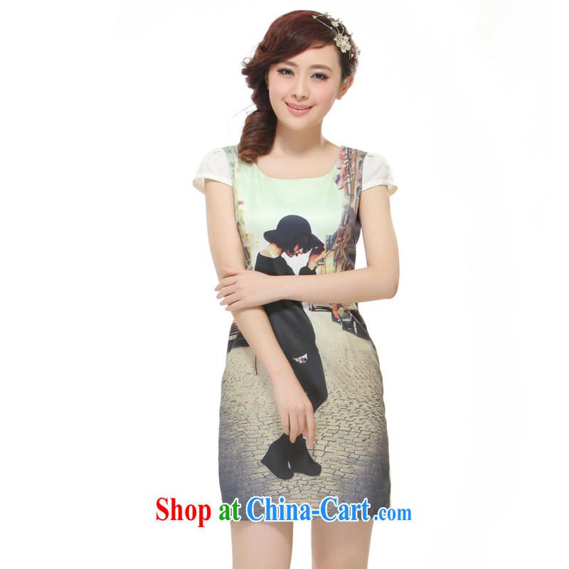 Slim li know 2015 spring and summer New China's impressive antique improved fashion cheongsam dress QR 511 abstract XL - pre-sale 15 days