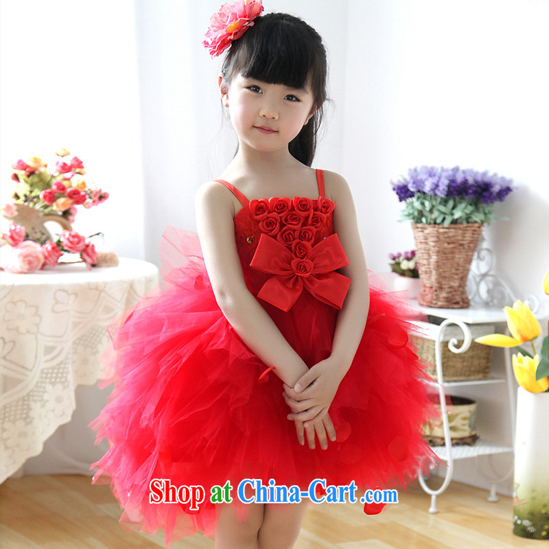 Moon ? guijin children dress dress Princess dress girls dress wedding dress flower girl dress children shaggy skirts dresses T 31 big red 8 from Suzhou shipping