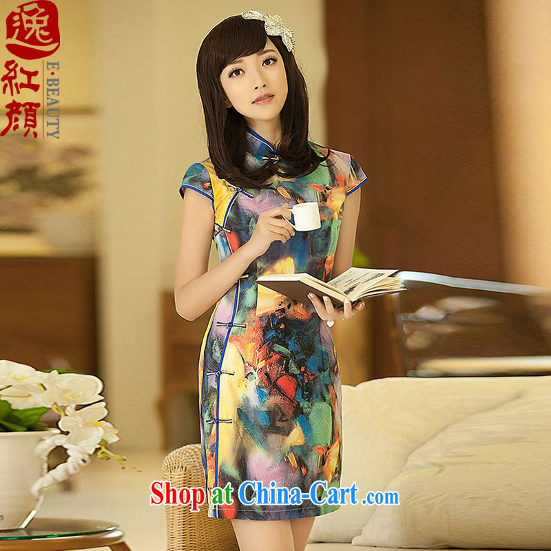 once and for all elections as soon as possible without Wind Screen dance new summer temperament improved stylish dresses dress stylish retro dresses suit 2 XL
