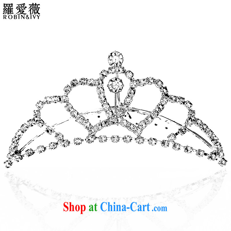 Paul love Ms Audrey EU Yuet-mee, RobinIvy) 2015 new Crown bridal upscale water drilling wedding head-dress wedding accessories only P 10,057 white S