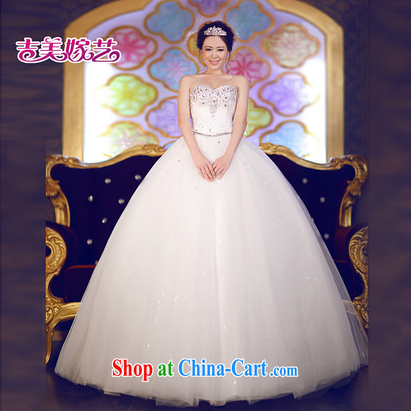 wedding dresses Jimmy married arts 2013 new erase chest Korean shaggy dress with HS 609 bridal wedding white XXXL
