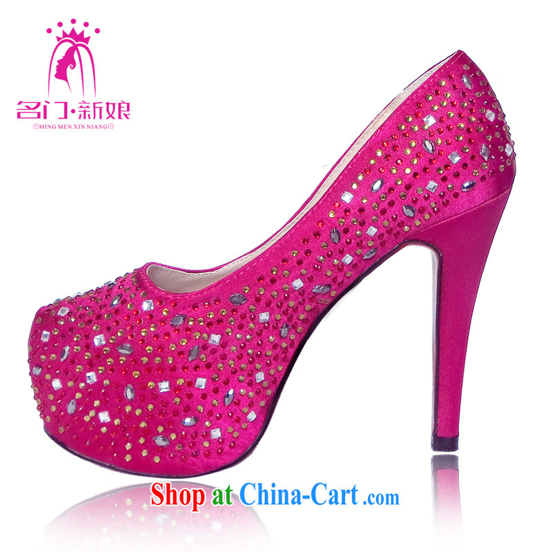 The bride's red Korean high-heel bridal shoes 2015 New first marriage shoes bridal shoes 087 39